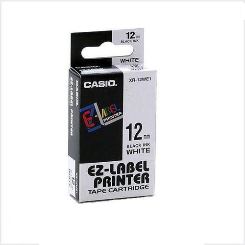 Casio taśma etykiet xr-12we1, xr12we1