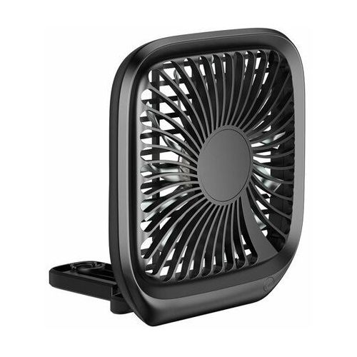 Baseus Foldable   Wiatrak samochodowy wentylator na zagłówek   czarny (6953156294158)