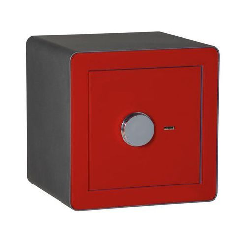 Metalkas Sejf gabinetowy tg_1sl2/1classic szyba czerwona (5907666209226)