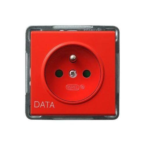 Gniazdo pojedyncze z uziemieniem i przesłonami DATA - GP-1RZDP/m/00 Sonata (5907577445362)