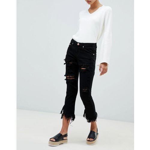 Glamorous ripped boyfriend jeans - Black
