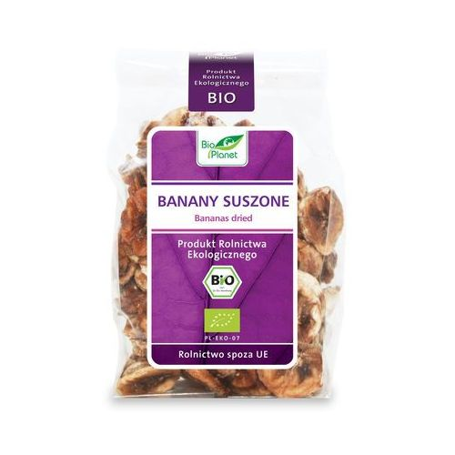 Banany suszone plastry BIO 150g- Bio Planet (5907814660084)