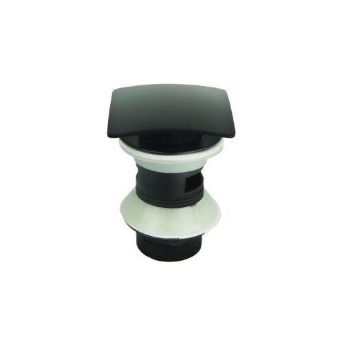 Korek do umywalkek z przelewem klik klak kwadrat czarny marki Stellman