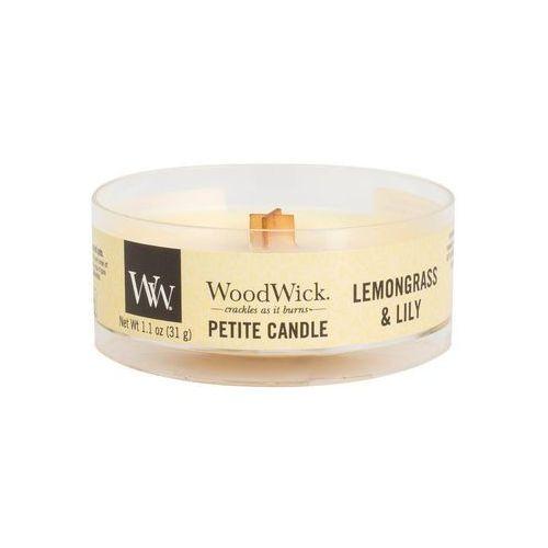 WoodWick - Świeca Petite Lemongrass & Lilly 15h