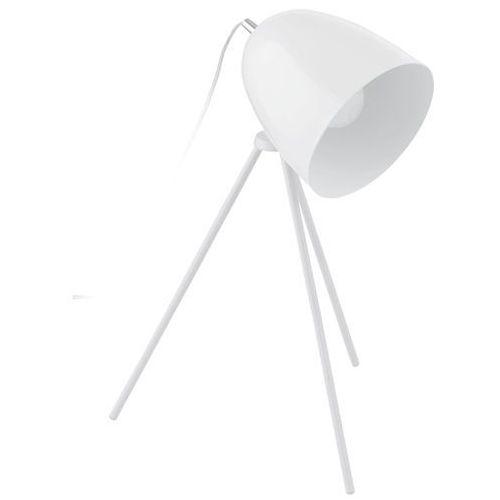 Lampa don diego 92889 lampka oprawa stołowa 1x40w e27 biała/chrom marki Eglo
