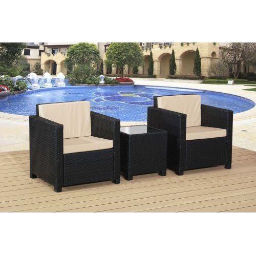 Zestaw mebli balkonowych 2 x fotel + stolik, Outlet 22