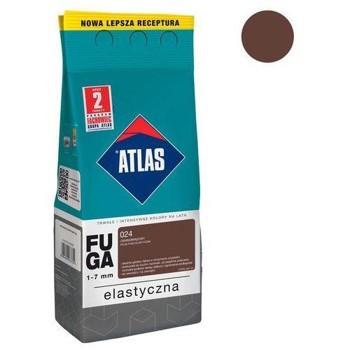 Fuga cementowa 024 ciemnobrązowy 2 kg ATLAS, W-FU001-B0024-AT2B