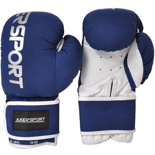 Rękawice bokserskie AXER SPORT A1345 Granatowo-Biały (8 oz) + DARMOWY TRANSPORT!