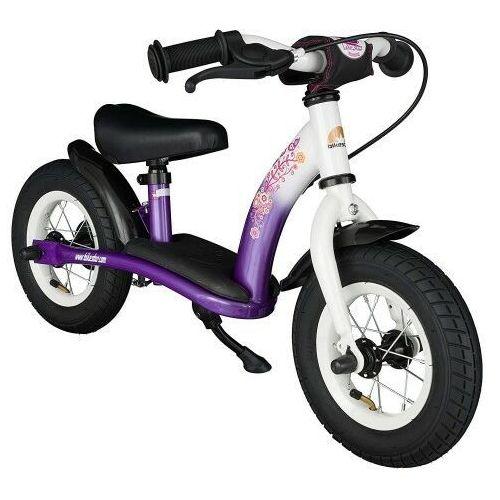 """Rowerek biegowy 10"""" niski od 2 lat germany classic, kolor liliowo-biały marki Bikestar"""