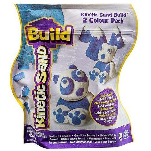 Piasek Kinetic Sand Build konstrukcyjny 2 kolory niebieski-biały 454g Spin Master 5909980N (5907486768132)