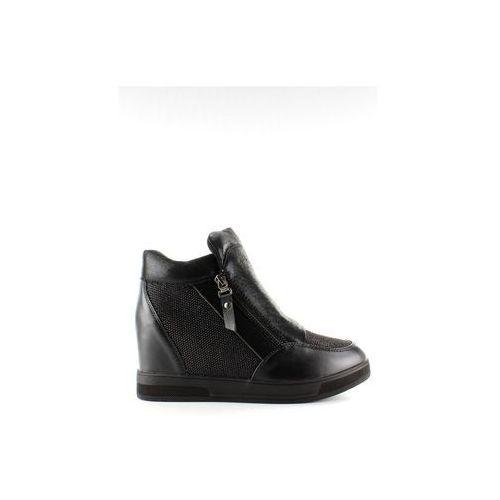 Buty obuwie damskie Sneakers na ukrytym koturnie 2017-1 czarny