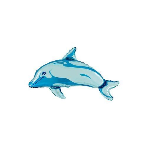 Grabo balloons Balon foliowy delfin niebieski - 89 x 53 cm - 1 szt. (5907509927720)