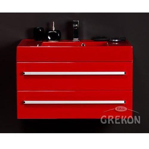 Czerwona szafka wisząca z umywalką 80/50/2CZ seria Fokus CZ