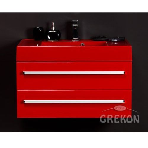 Gante Czerwona szafka wisząca z umywalką 80/50/2cz seria fokus cz