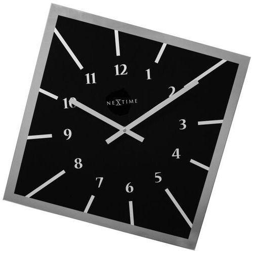 Zegar ścienny Nextime Off Balance czarny (8176 ZW), kolor czarny