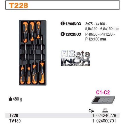 Wkład profilowany twardy do zestawu narzędzi 2424/t180-200-220-225, pusty, model 2400/tv180 wyprodukowany przez Beta