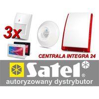Zestaw alarmowy integra 24, klawiatura dotykowa, 3 czujniki ruchu pet, 1 czujnik gazów usypiających, sygnalizator zewnętrzny sp-4003 marki Satel