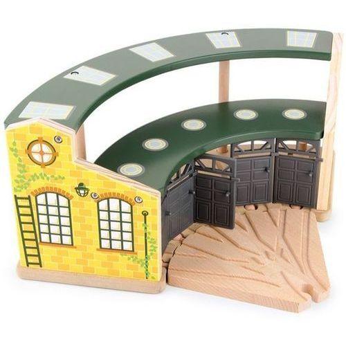 Parowozownia round house - element drewnianej kolejki dla dzieci marki Small foot design