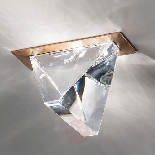 Fabbian Sufitowa oprawa wpuszczana led tripla, brąz