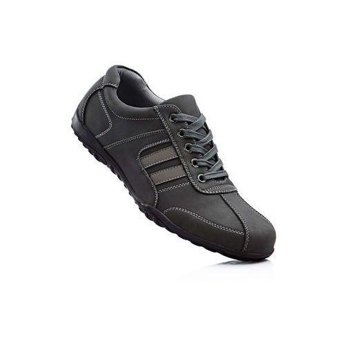 Sneakersy bonprix czarno-szary, kolor wielokolorowy