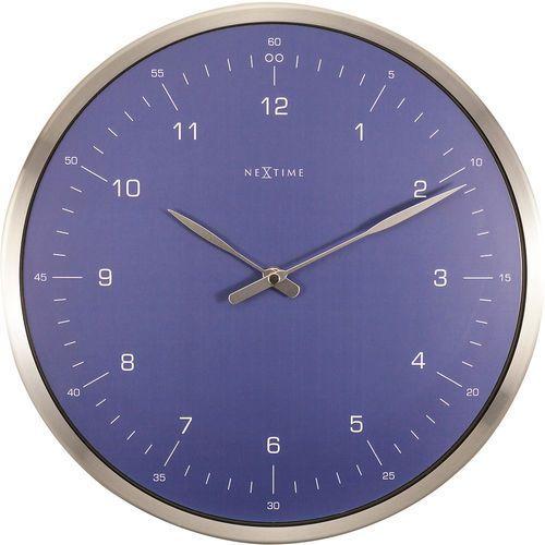 Nextime Zegar ścienny 60 minutes niebieski (3243 bl) (8717713022084)