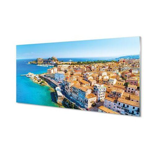 Obrazy akrylowe grecja morze miasto wybrzeże marki Tulup.pl