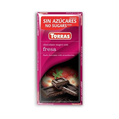 Torras Czekolada gorzka z truskawkamii bez dodatku cukru 75g (8410342002174)