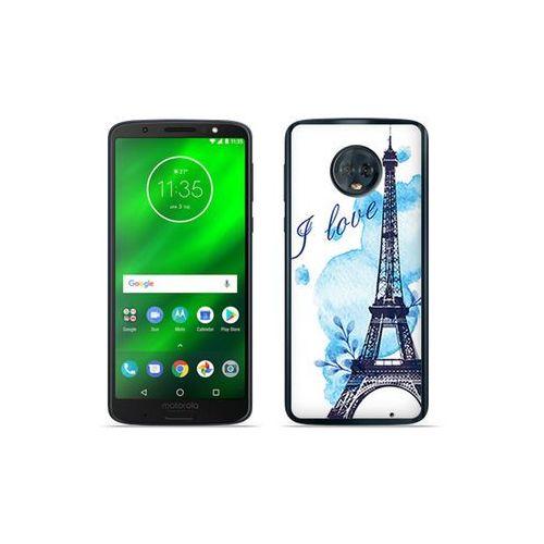 Motorola Moto G6 Plus - etui na telefon Fantastic Case - niebieska wieża eiffla