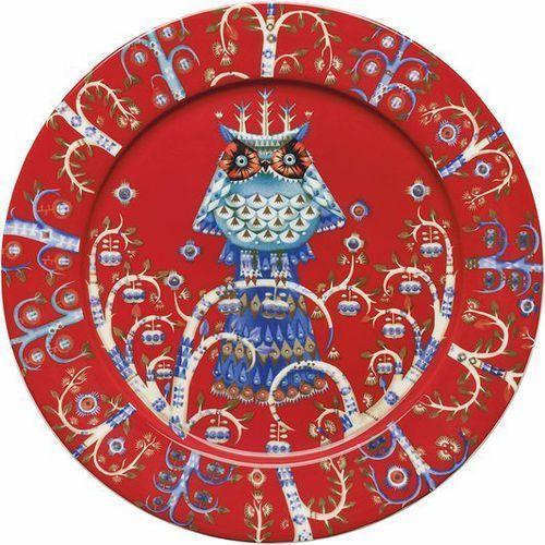 Talerz płaski 27 cm Taika czerwony, 1013907