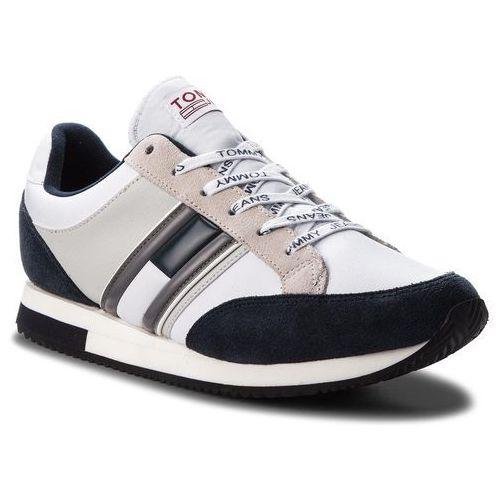 Sneakersy TOMMY JEANS - Casual Retro Sneaker EM0EM00112 Ink/Ice/White 901, kolor wielokolorowy