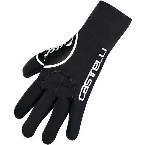 diluvio rękawiczka rowerowa mężczyźni czarny xxl 2018 rękawiczki zimowe marki Castelli