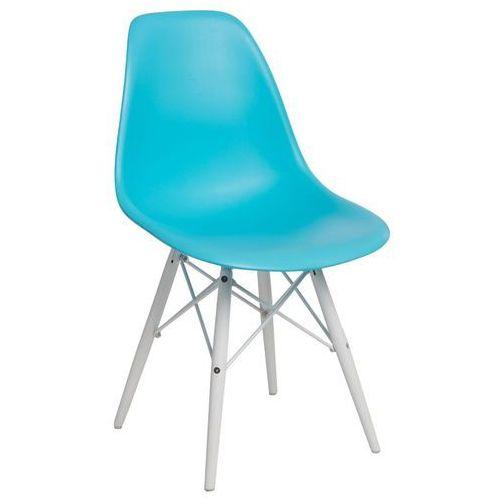 D2design Krzesło p016w pp ocean blue/white (5902385724548)