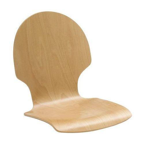 Krzesło z siedziskiem z drewna, opak. 2 szt., buk naturalny, okrągłe, bez obicia