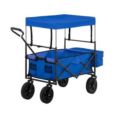 Uniprodo wózek ogrodowy składany - 100 kg - niebieski uni_cart_02 - 3 lata gwarancji