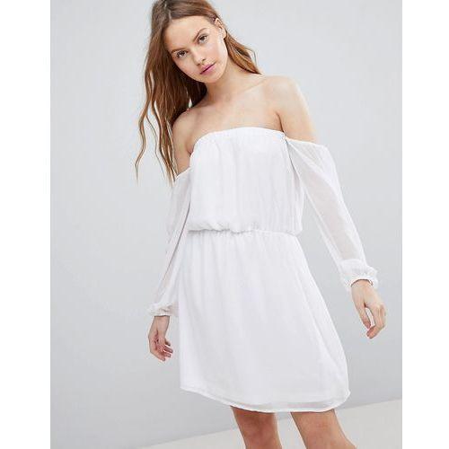 Glamorous Bardot Frill Dress - White