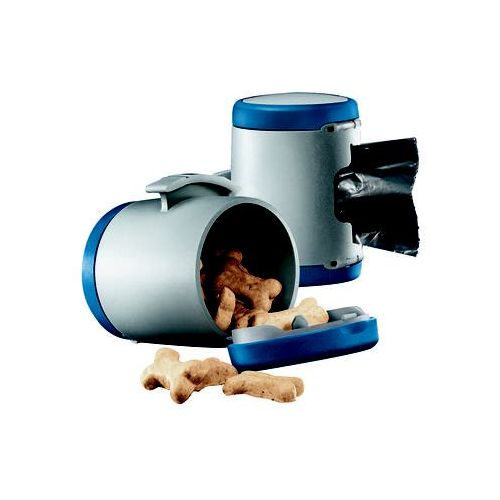 Flexi  vario multi box - pojemnik na karmę i woreczki kolor: niebieski