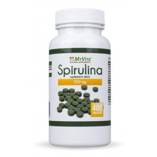 Myvita Spirulina tabletki 400 tabletek 250mg. Najniższe ceny, najlepsze promocje w sklepach, opinie.