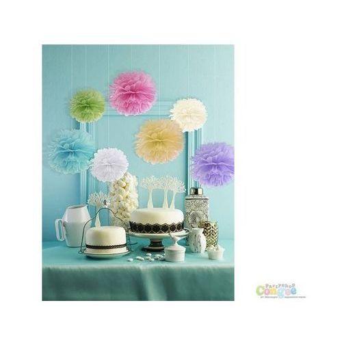 Party deco Dekoracja wisząca pompon kwiat - liliowa - 25 cm - 1 szt.