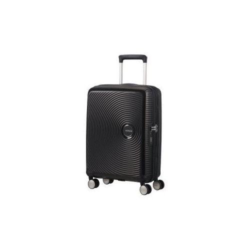 SOUNDBOX walizka mała/ kabinowa renomowanej marki AMERICAN TOURISTER 4 koła zamek szyfrowy TSA materiał 100% polipropylen możliwość poszerzenia