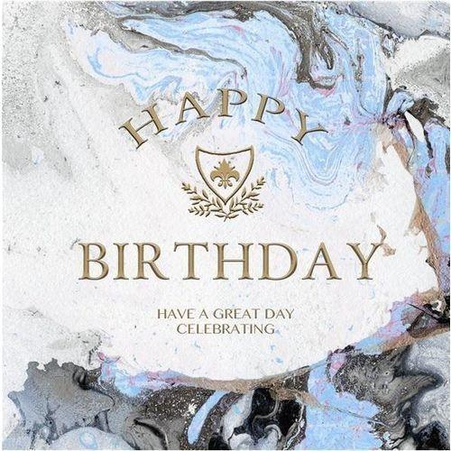 Karnet kwadrat z kopertą Urodziny Blue Marble Birt (5033396038161)