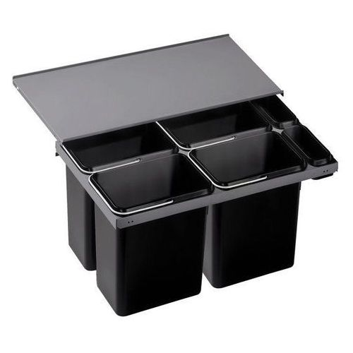 Sortownik odpadów, kosz na śmieci, poczwórny  flexon 90/6 (516601), marki Blanco