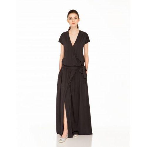 Sukienka su138 (Kolor: grafitowy, Rozmiar: Uniwersalny)