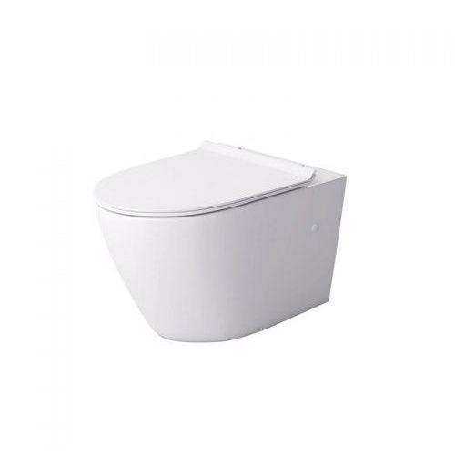 Massi decos rimless miska wc wisząca z deską wolnoopadającą duroplast biała msm-3673rimslim marki Kerra