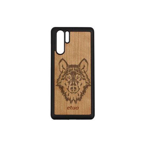 Etuo wood case Huawei p30 pro - etui na telefon wood case - czereśnia - wilk