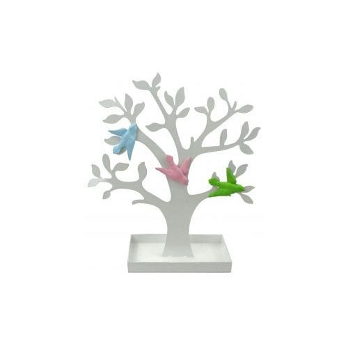 Drzewko metalowe białe z ptaszkami na magnesy