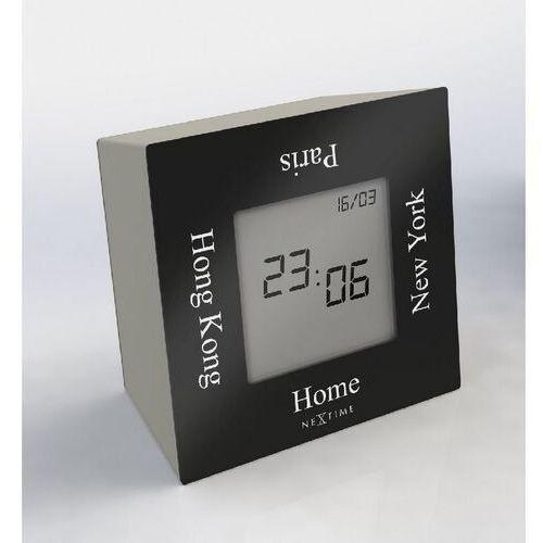Zegar stołowy Nextime Turn4Time czarny (5190 ZW), kolor czarny