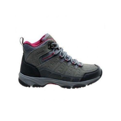 Hi-tec buty trekkingowe damskie lasado mid wp wo's - rozmiar 37 - kolor grafitowy