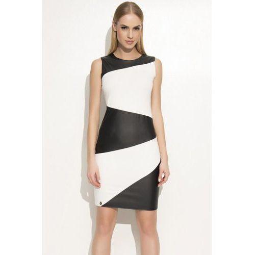 Sukienka Model M341 Ecru/Black, kolor czarny