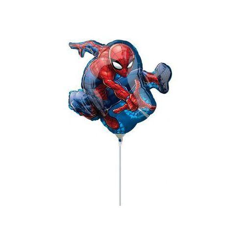Amscan Balon foliowy do patyka spiderman - 37 cm - 1 szt