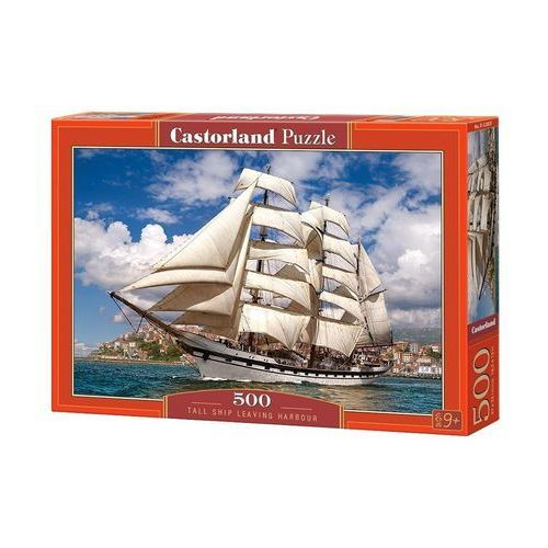 Puzzle Tall Ship Leaving Harbour 500 - Castor (5904438052851)